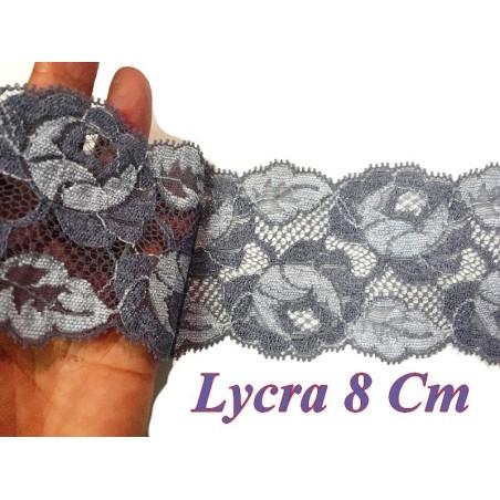 Dentelle Lycra De Calais en 8 cm Au Mètre De Couleur Parme Bi-Color A Coudre.