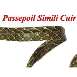 Ruban passepoil Simili Cuir Mat Imprimé aspect Motif Crocodile Au Mètre Couture.