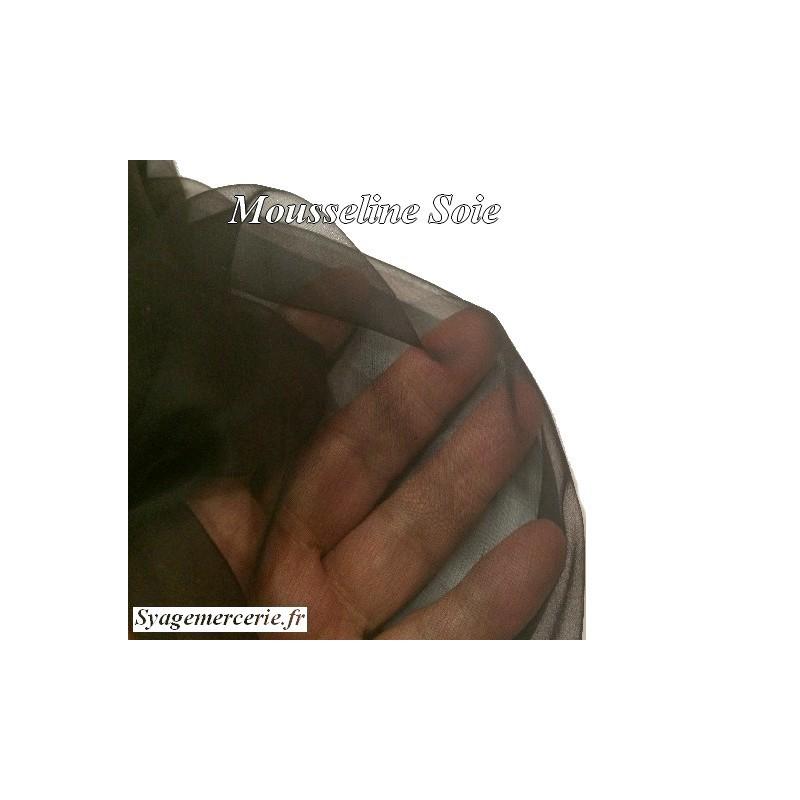 Tissu Mousseline de Soie Noir Au Mètre En 1 Mètre 45 De Largeur