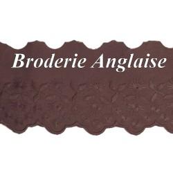 Broderie Anglaise Coton au Mètre en 6 cm Couleur Aubergine A Coudre.
