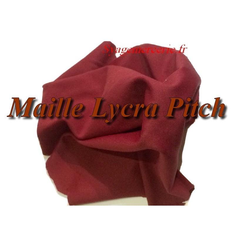 Tissu Lycra Maille Pitch Bordeaux Au Mètre