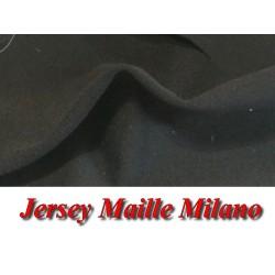 Tissu Jersey Lycra Maille Milano Noir