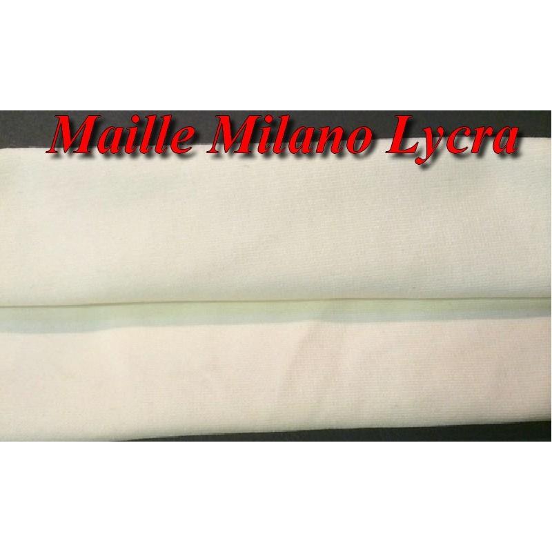 Tissu Jersey Lycra Maille Milano ivoire