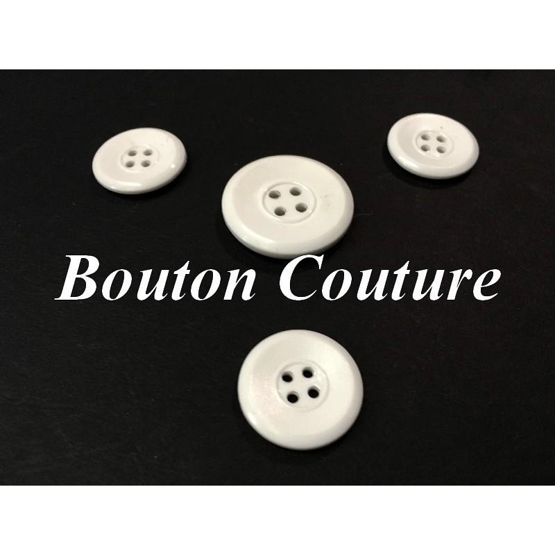 Bouton DE Couture Blanc En Taille 18 mm, 31 mm x Par 6 Piéces Pour Tailleurs, Manteaux,Vetements Et Loisirs Créatifs