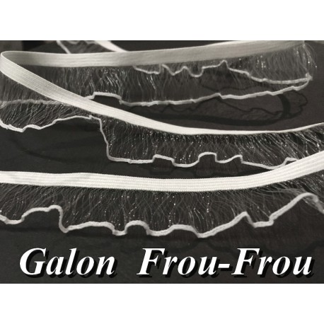 Galon Ruban Lycra En Filet Transparent En 2,5 Cm A Coudre Pour Lingerie Et Customisations.