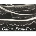 Galon Ruban Lycra FrouFrou En Filet Transparent  En 2,5 Cm A Coudre Pour Lingerie Et Customisations.