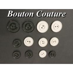 Bouton DE Couture Blanc Ou Noir x Par 6 Pièces En Taille 18 mm, 20 mm Et 25 mm Pour Vetements Et Loisirs Créatifs.