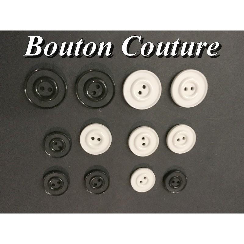 Bouton DE Couture Blanc x Par 6 Pièces En Taille 18 mm, 20 mm Et 25 mm Pour Vetements Et Loisirs Créatifs.