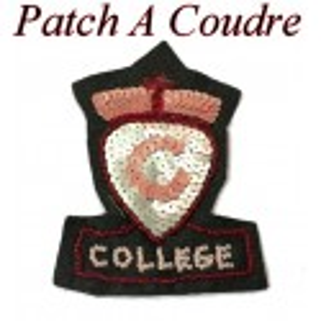 """Ecusson Couture """" College """" Avec  Perles Et Sequins A Coudre Pour Customisations."""