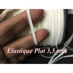 Elastique Plat En 3,5 mm A Coudre, Ruban Lycra Blanc Paille Pour Lingerie, et Customisations.