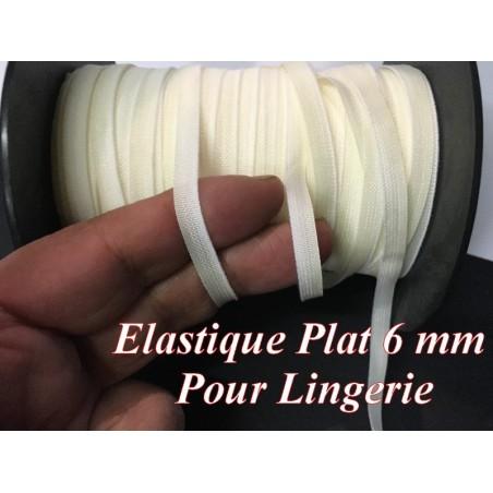 Elastique Plat En 6 mm A Coudre, Ruban Lycra Blanc Pour Lingerie, et Customisations.