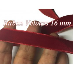 Ruban De Velours en 16 mm Couleur Rouge Pour vetements et Loisirs Créatifs