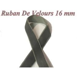 Ruban De Velours en 16 mm Couleur Gris Pour vetements et Loisirs Créatifs