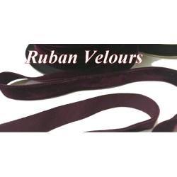 Ruban De Velours en 16 mm Couleur Lie de vin Pour vetements et Loisirs Créatifs