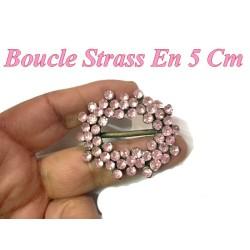 Boucle Pour Ceinture En Strass Couleur Rose Pour décorations Et Fabrications.