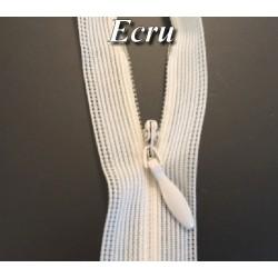 Zip invisible En 22 Cm, Coloris Ecru Couture, Non-Séparable, Pour Jupes, Pantalons, Robes