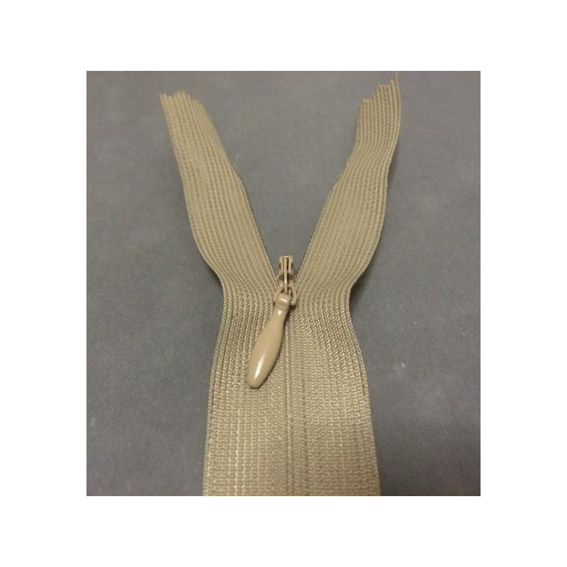 Zip invisible En 22 Cm, Coloris Beige Couture, Non-Séparable, Pour Jupes, Pantalons, Robes