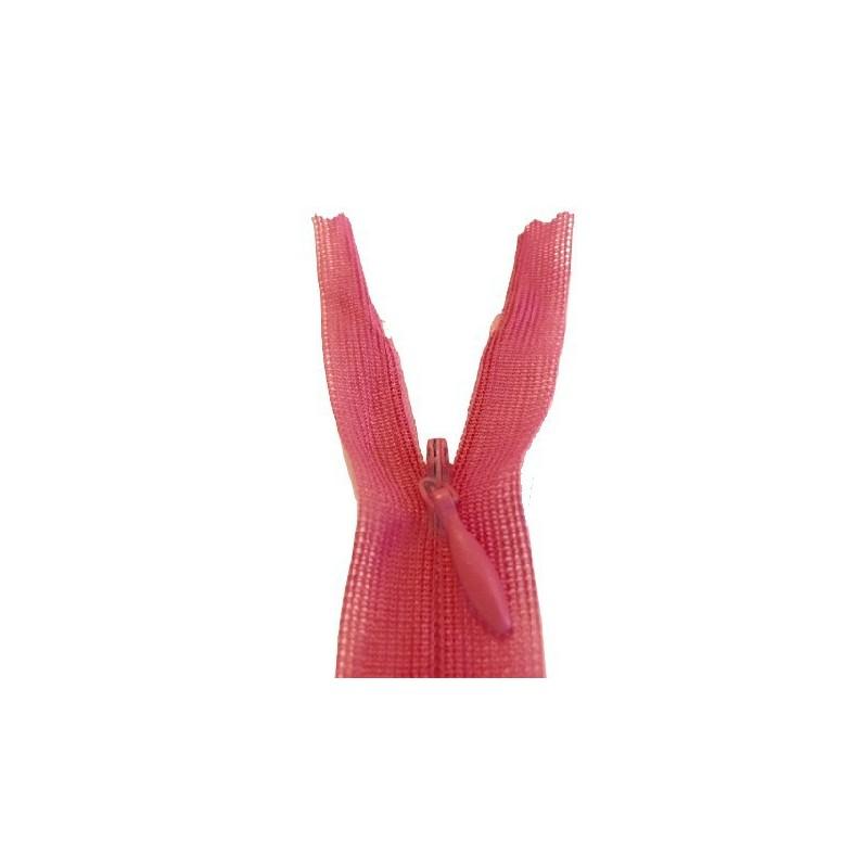 Zip invisible En 22 Cm, Coloris Fushia Couture, Non-Séparable, Pour Jupes, Pantalons, Robes