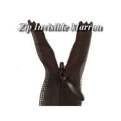 Zip invisible En 22 Cm, Coloris Marron Couture, Non-Séparable, Pour Jupes, Pantalons, Robes