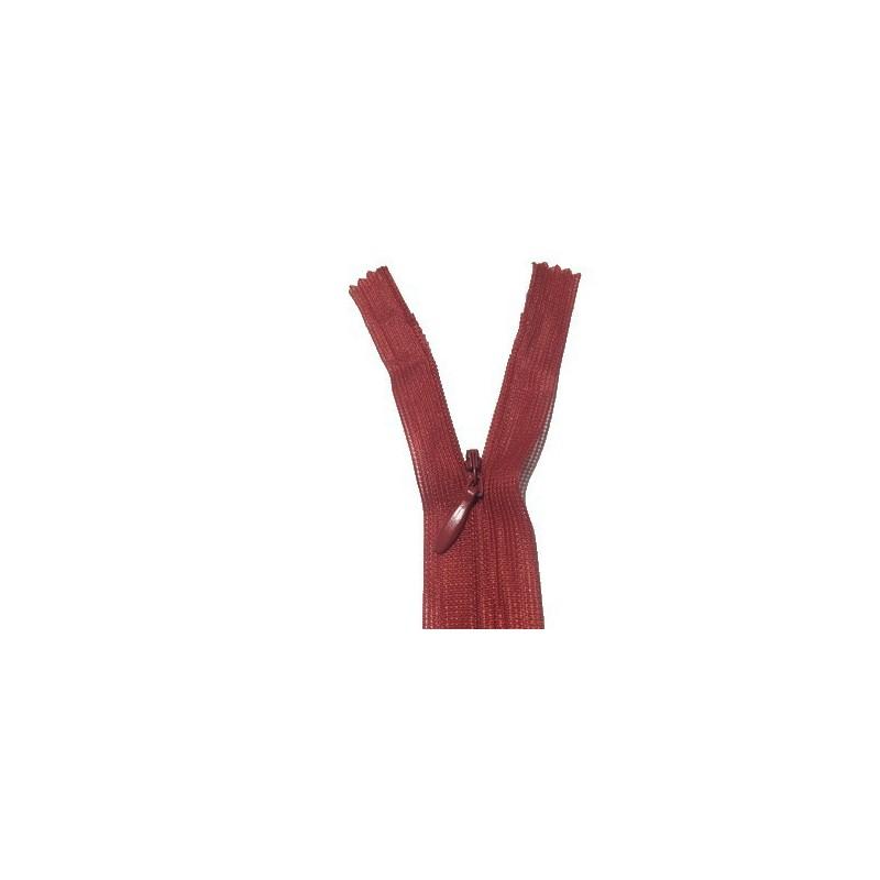 Zip invisible En 22 Cm, Coloris Bordeaux Couture, Non-Séparable, Pour Jupes, Pantalons, Robes