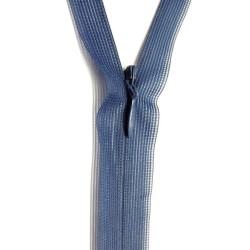 Zip invisible En 22 Cm, Coloris Bleu Indigo , Non-Séparable, Pour Jupes, Pantalons, Robes