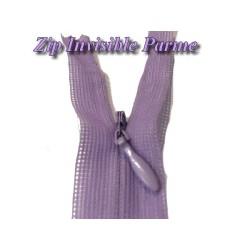 Zip invisible En 22 Cm, Coloris Parme , Non-Séparable, Pour Jupes, Pantalons, Robes