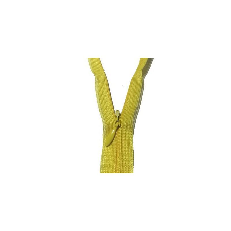 Zip invisible En 22 Cm, Coloris Jaune , Non-Séparable, Pour Jupes, Pantalons, Robes