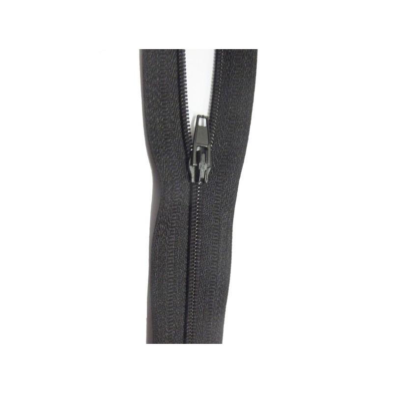 Zip Fermeture Eclair Noir A Glissière Nylon 20 Cm A Coudre.