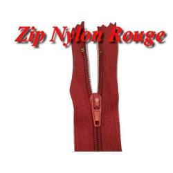 Fermeture Eclair Rouge A Glissière Nylon 20 Cm A Coudre.