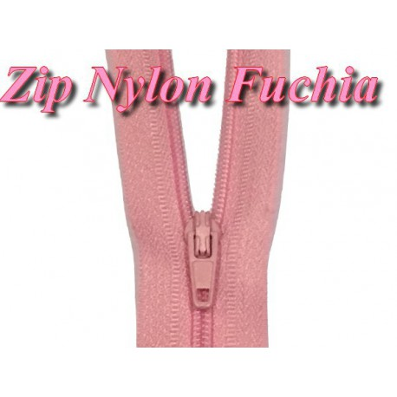 Fermeture Eclair Fushia A Glissière Nylon 20 Cm A Coudre.