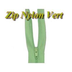 Fermeture Eclair Vert A Glissière Nylon 20 Cm A Coudre.