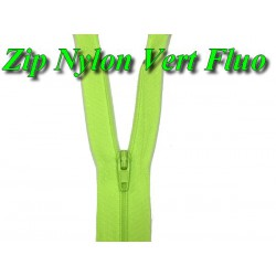 Fermeture Eclair Vert Fluo A Glissière Nylon En 20 Cm A Coudre.