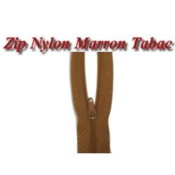 Fermeture Eclair Marron Tabac à Glissière Nylon En 20 Cm A Coudre.