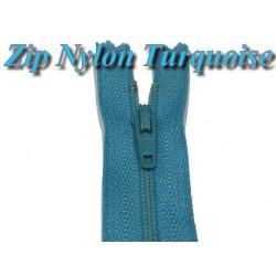 Fermeture Eclair à Glissière Nylon Turquoise En 20 Cm A Coudre.