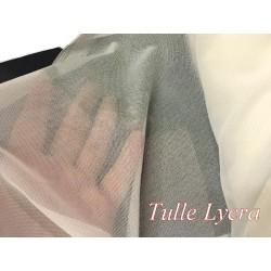 Tissu Tulle Résille Lycra Au Mètre en Couleur écru ivoire Pour Justaucorps.