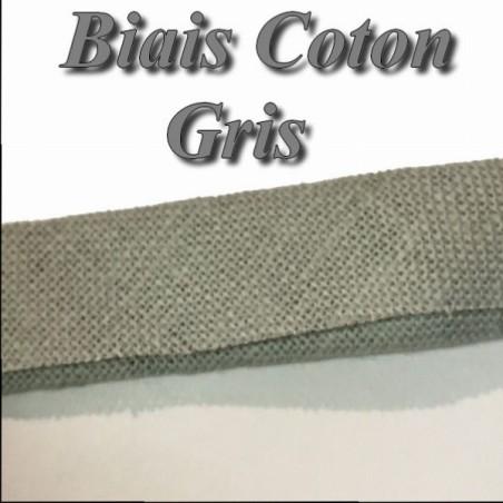 Biais Replié Coton Gris, A Coudre, Loisirs Créatifs.