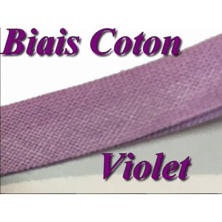 Biais Replié Coton Violet, A Coudre, Pour Vetements Et Loisirs Créatifs.