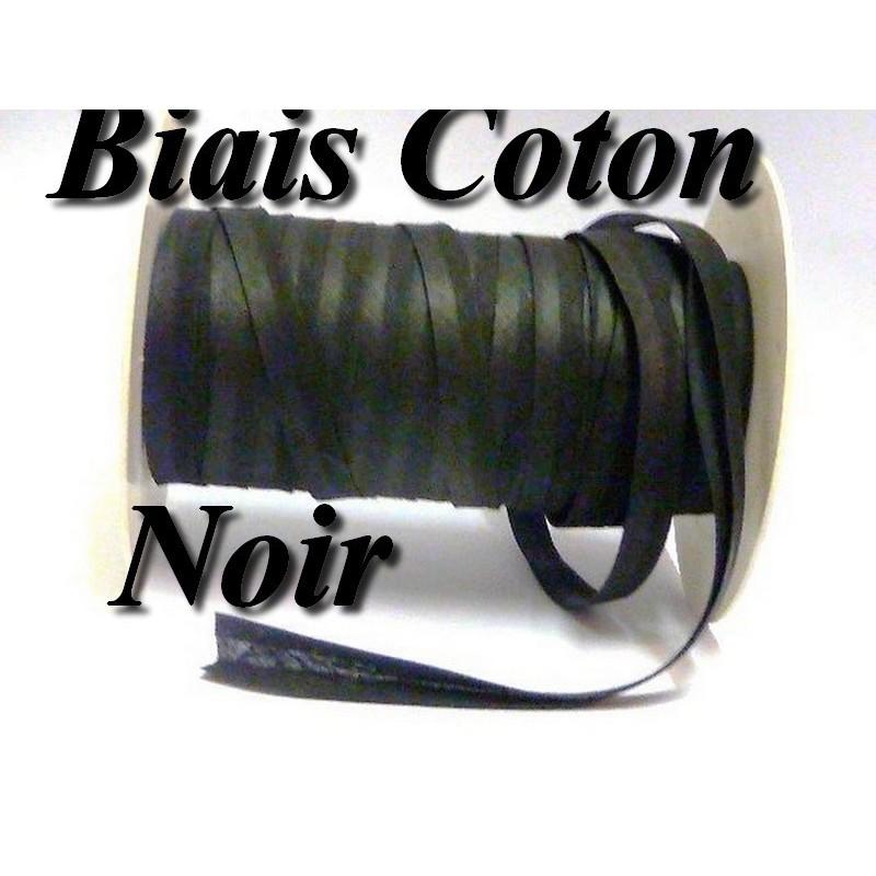 Biais Replié Coton Noir , A Coudre, Pour Vetements Et Loisirs Créatifs.
