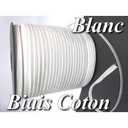 Biais Replié Coton Blanc , A Coudre Pour Vetements Et Loisirs Créatifs.