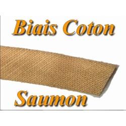 Biais Replié En Tissu Coton Saumon Pour Vetements Et Loisirs Créatifs.