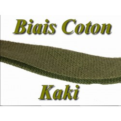 Biais Replié En Tissu Coton kaki Pour Vetements Et Loisirs Créatifs.