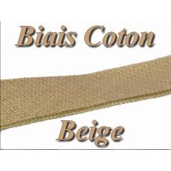 Biais Replié En Tissu Coton Beige Pour Vetements Et Loisirs Créatifs.