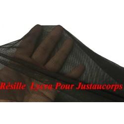 Tissu Résille Lycra Au Mètre en Couleur Noir Pour Justaucorps.