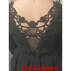 Col En Guipure Dentelle Noir A Coudre Pour Customisations.