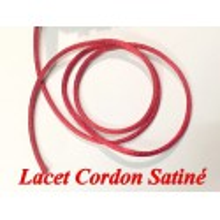 Cordon Lacet Satiné En 3 mm Rouge Pour Loisirs Créatifs Et Laçage.