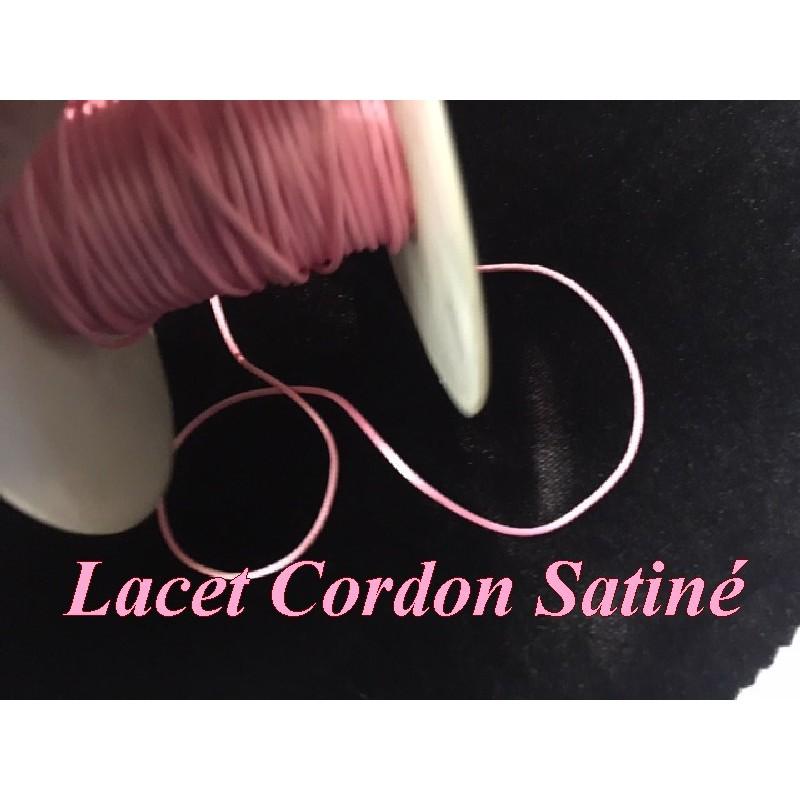 Cordon Lacet Satiné Rose En 3 mm Pour Loisirs Créatifs Et Laçage.