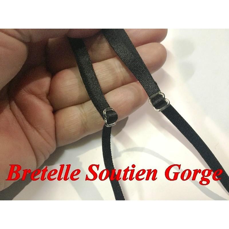 Bretelle Soutien Gorge en 6 mm Noir Pour lingerie Et Vetements
