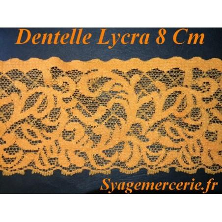 Dentelle Au Mètre Lycra En 8 Cm Orange Pour customisations et Décorations.s