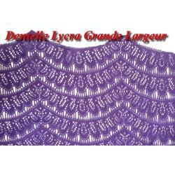 Dentelle Lycra En Grande Largeur Couleur Violet pour lingerie Et Décorations