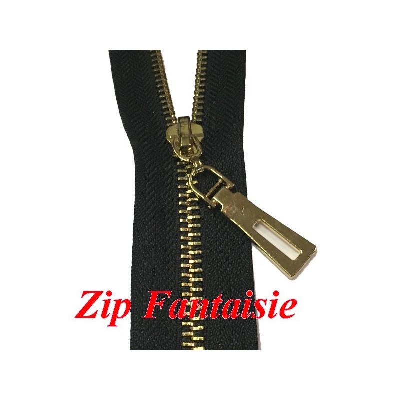 Fermetures Eclair Zip Noir En Maille 3 Doré Non-Ouvrable POur sacs Et décorations De Vetements